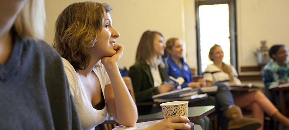 Student are captivated by an out of frame lecturer