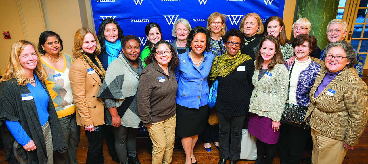 President Paula Johnson with Wellesley's alumnae board of directors