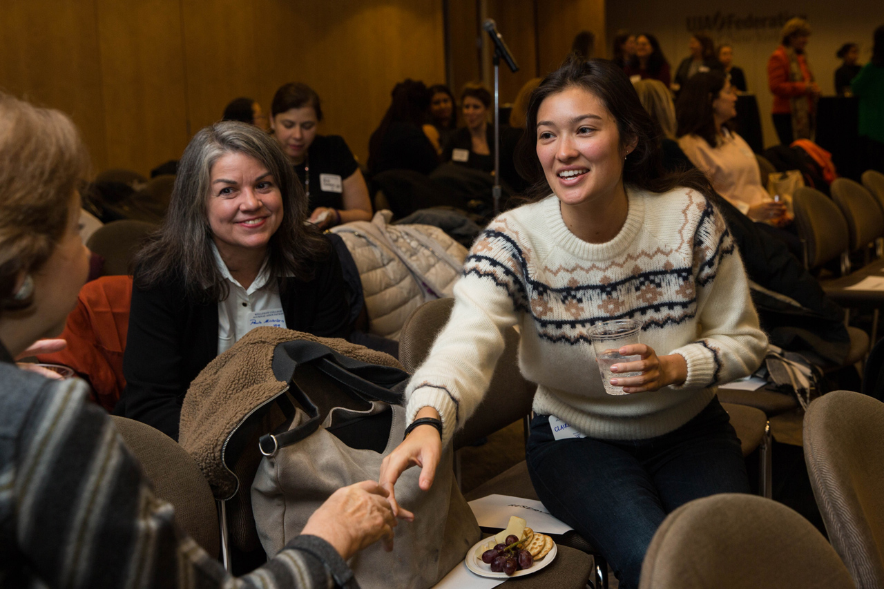 Fireside Chat with Lulu Chow Wang alumnae event, organized by New York Wellesley Club Careers. Photograph by Gabriella Reubins.