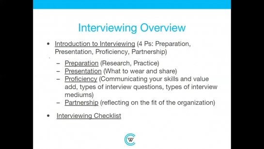 Interviewing: A Career Essentials Workshop