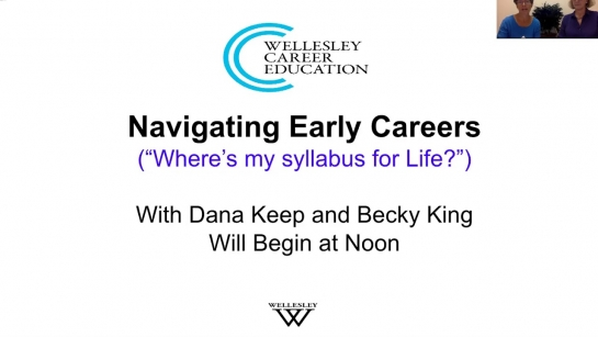 Navigating Early Careers: Where is the syllabus for life? (Webinar, September 2019)