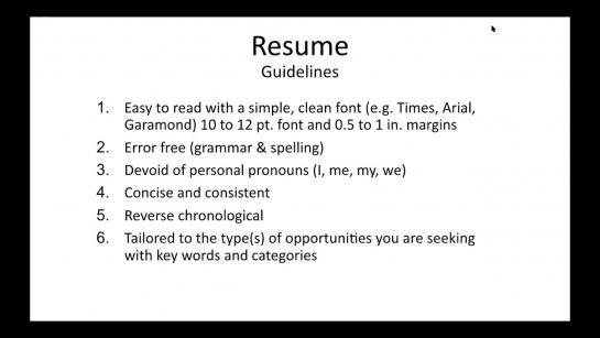 Finance-focused Resume & Cover Letter Workshop (February 2021)