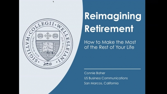 Reimagining Retirement Webinar with Connie Baher '63