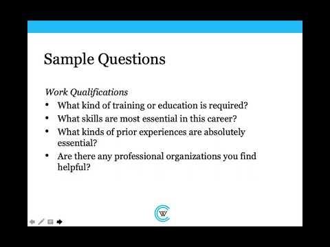 Informational Interviewing: A Career Essentials Workshop