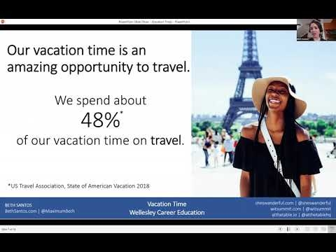 Vacation Time: how the way you travel can change the way you work (Webinar, March 2019)
