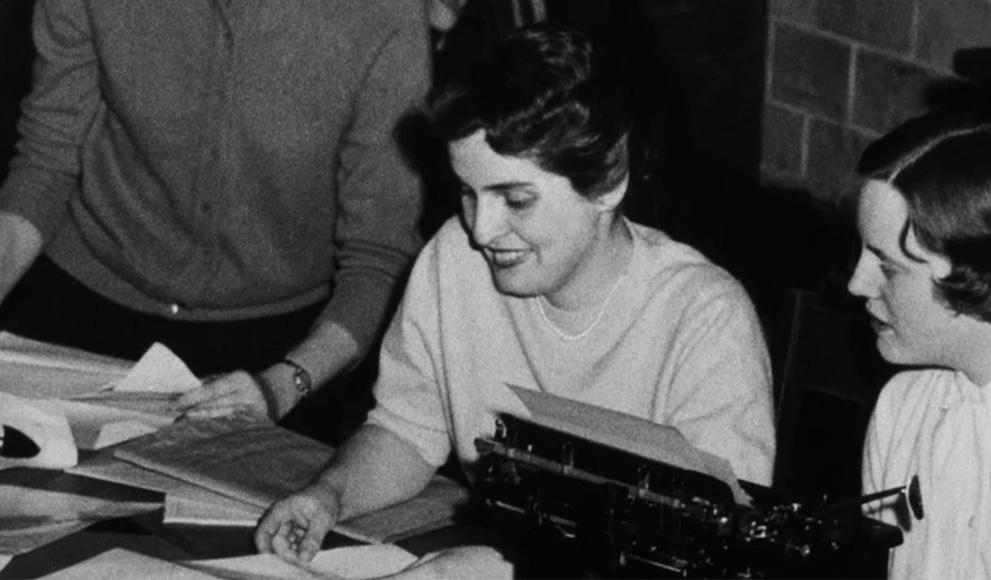 Madeleine Korbel Albright '59 as a student at Wellesley