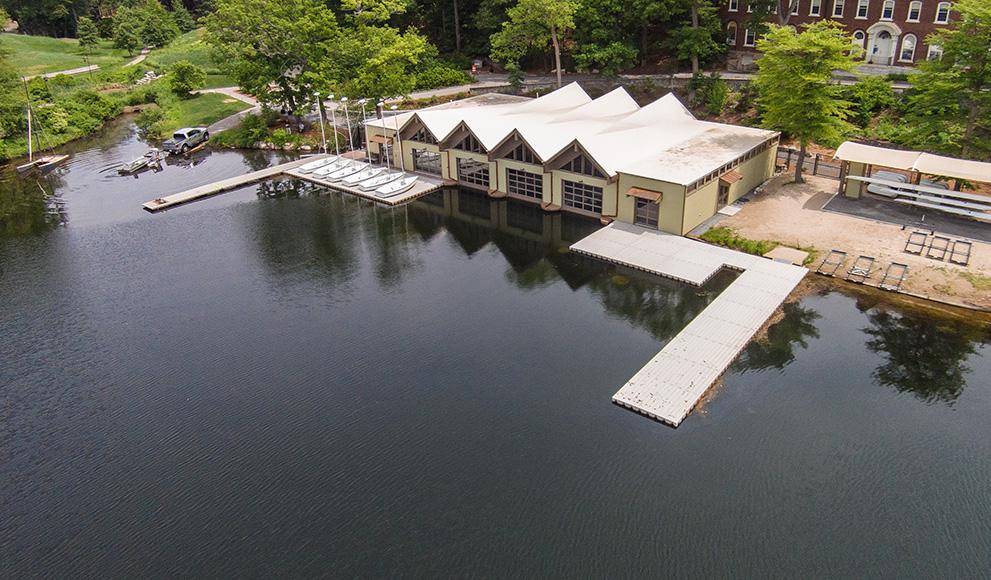 Wellesley's newly renovated Butler Boathouse