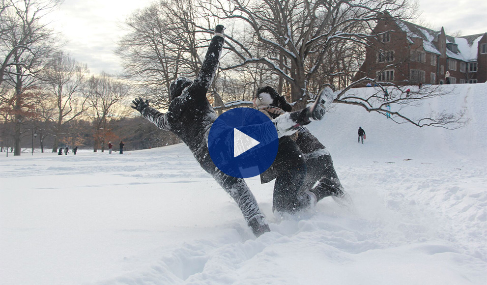 A Scene from the 2015 Wellesley College Seasons Greetings Video