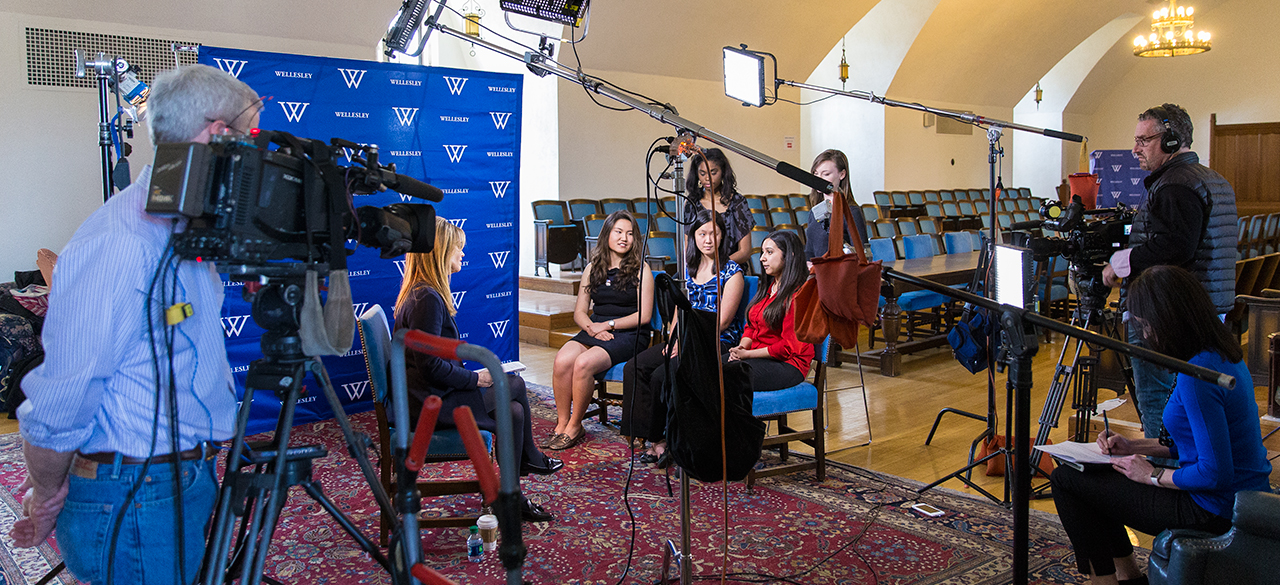 Wellesley students are interviewed for CNN