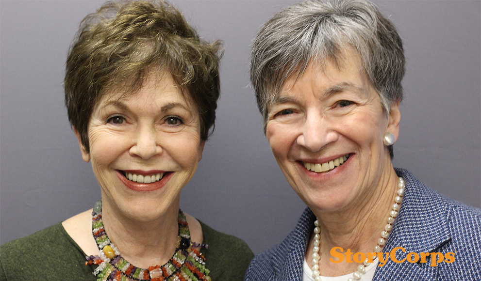 Wellesley alumnae Linda Gottlieb '60 and Nicki Tanner '57