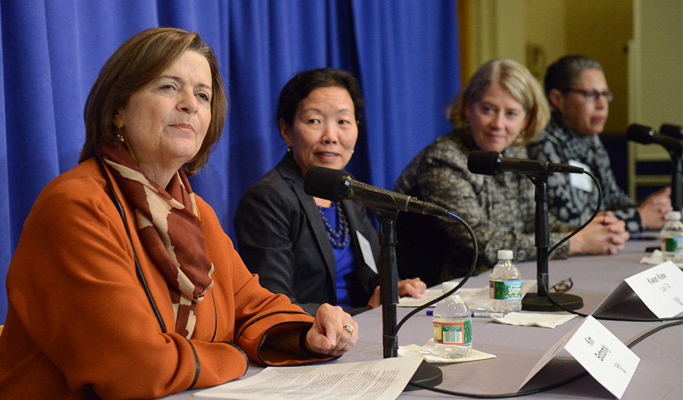 Panelists on the Campaign to Launch the Wellesley Effect Women in STEM Panel