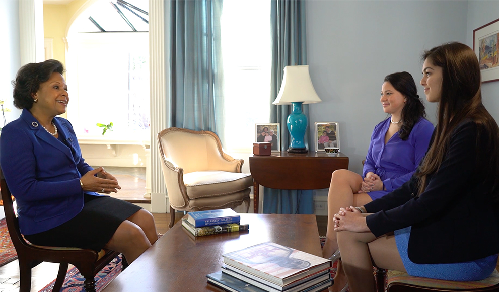 Students Shivani Kuckreja '16 and Charlotte Harris '16 interview Dr. Paula A. Johnson, Wellesley's 14th President