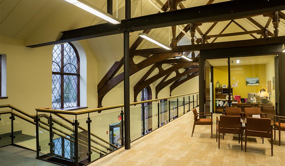 Interior image of Wellesley's Schneider Center