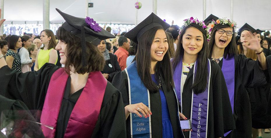 laughing graduates