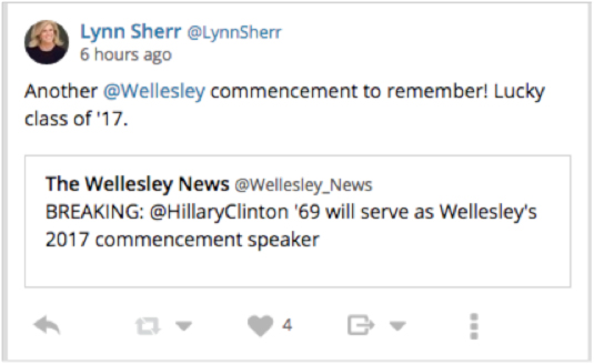 Lyn Sheer: Another Wellesley commencement to remember.