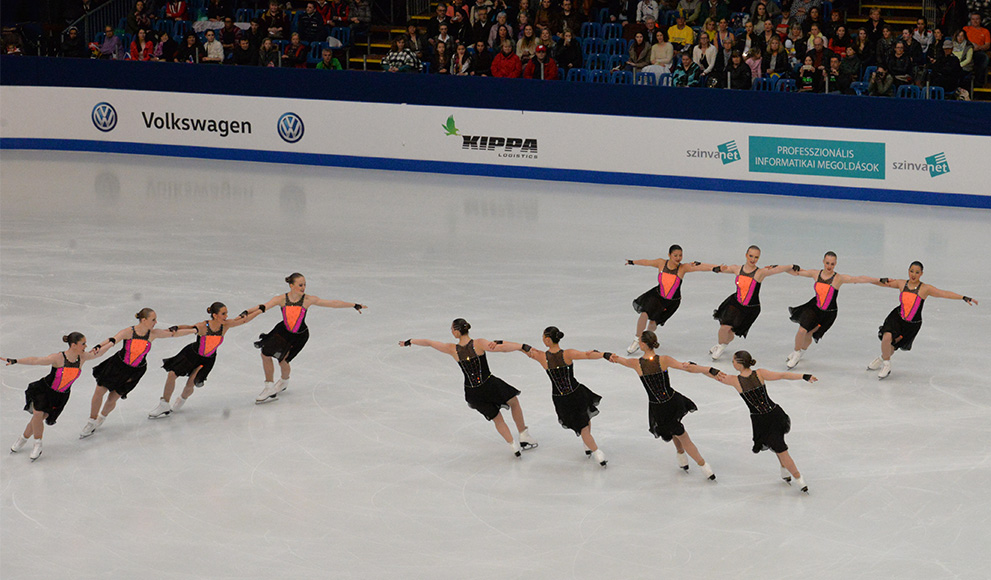 Student's Bronze Medal Winning Team at World Syncronized Skating Championships