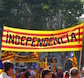 Handmade sign for the Catalan Independence Movement