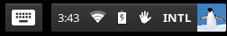 Screenshot of the Chrome OS Launcher/Taskbar with On-screen Keyboard and Accessibility icons