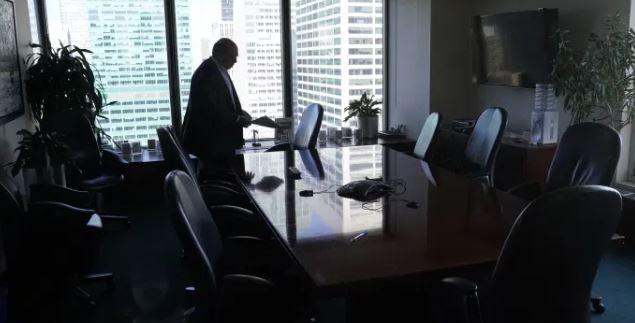 Man in meeting room