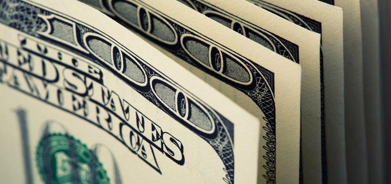 Stock photo of hundred dollar bills