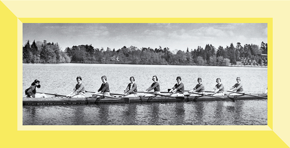 Wellesley's crew team was the first women's intercollegiate rowing team in the country.