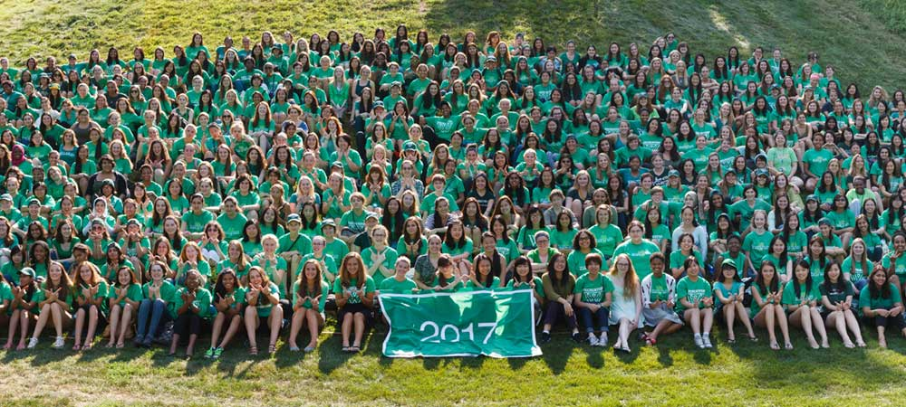 Green Class of 2017 Group Portrait