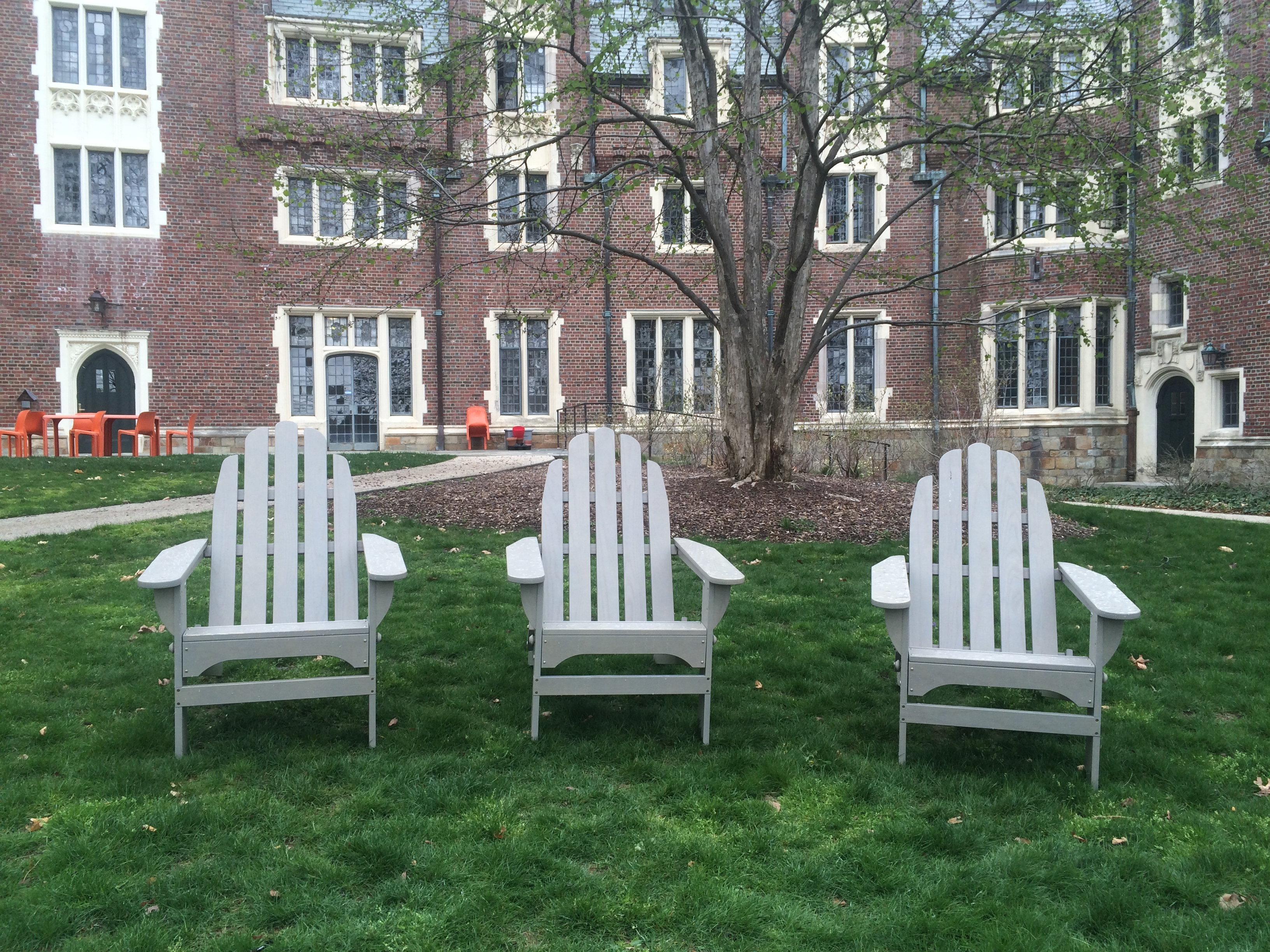 Relaxing Adirondack Chair Outside Resident Halls