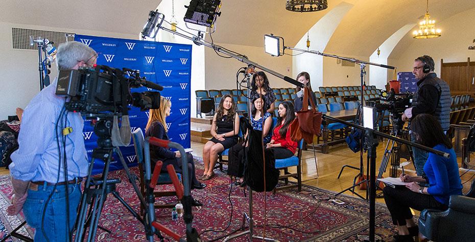 CNN interviews Wellesley students