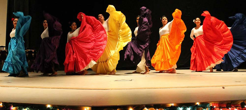 students performing traditional dance