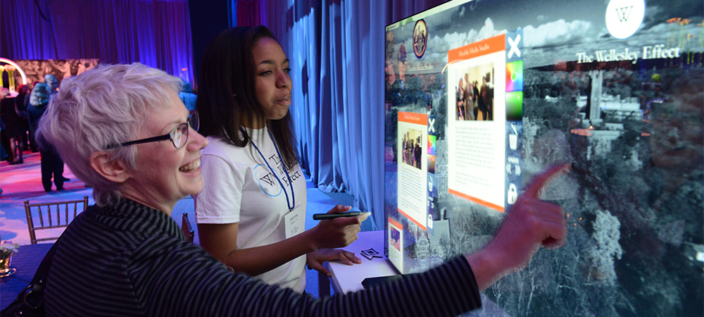 interacting with a touchscreen