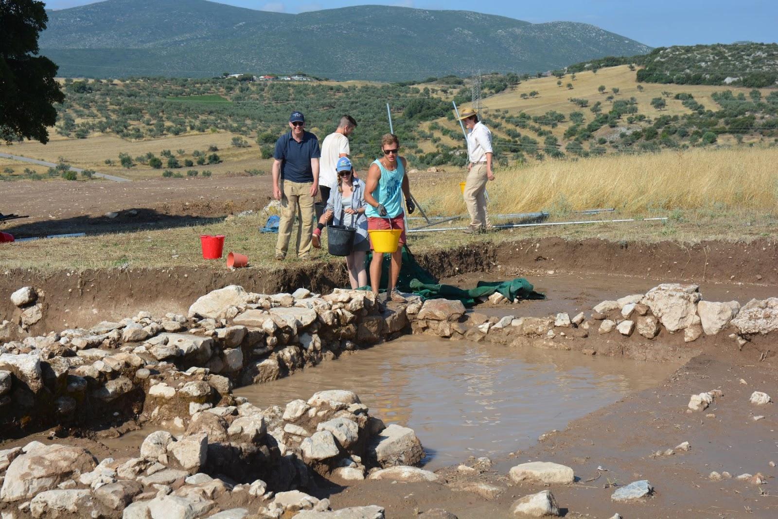 excavating in Eastern Boeotia