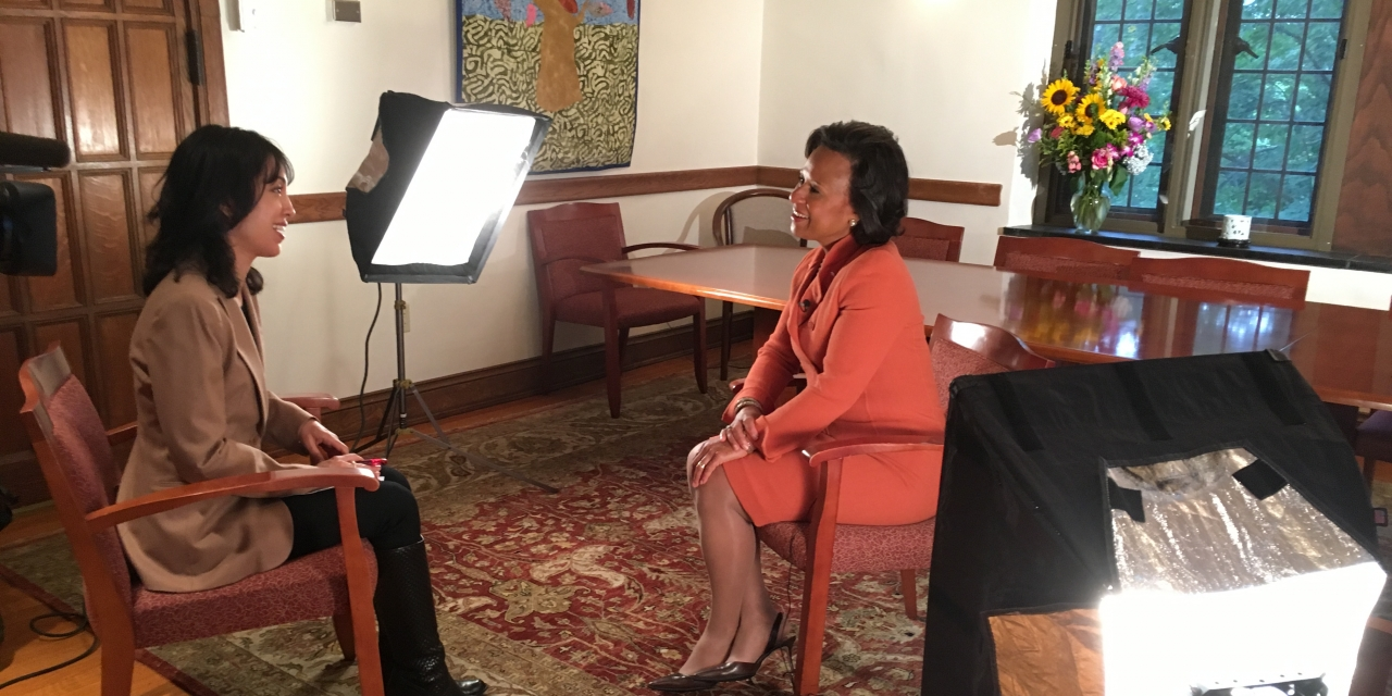 Paula Johnson on interviewed by WCVB