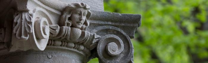 close up of a column