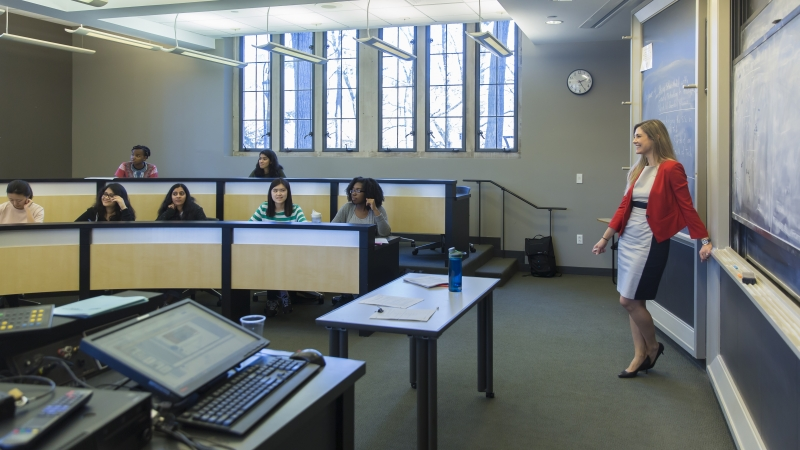 professor teaching a classroom