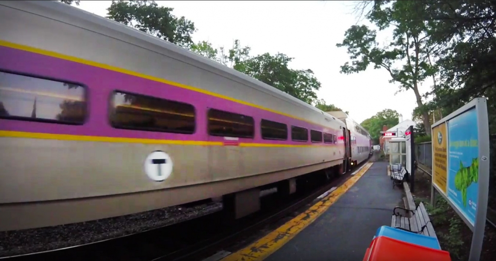 train pulling into Wellesley Square station