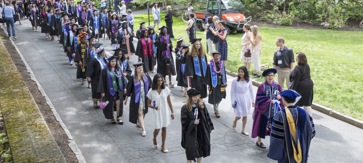 student procession at commencement