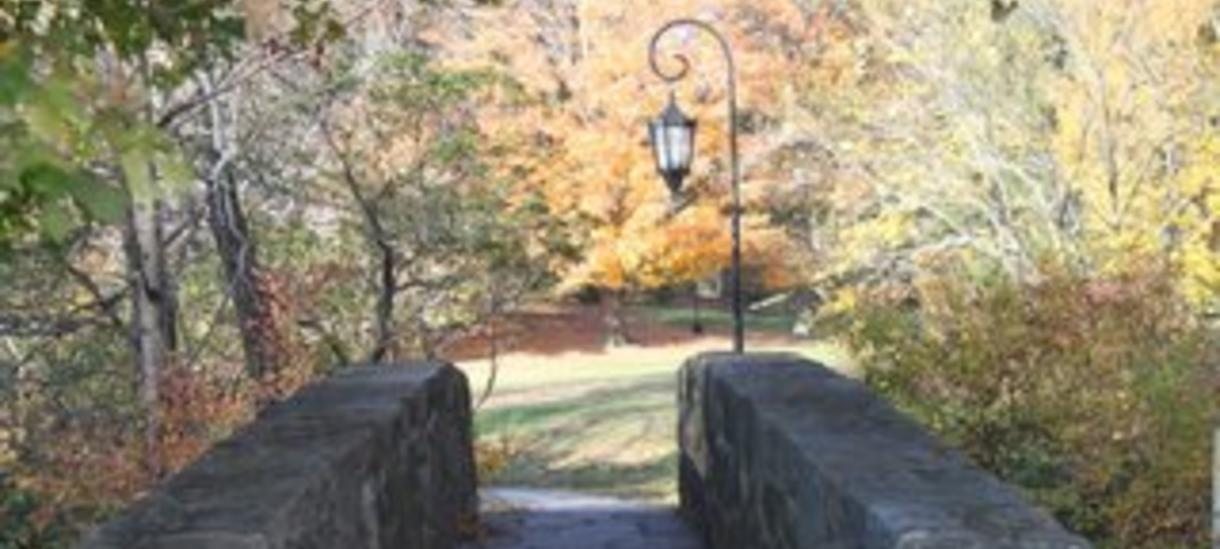 photo of stone bridge near The Wellesley College Club by Andrea Verdelli