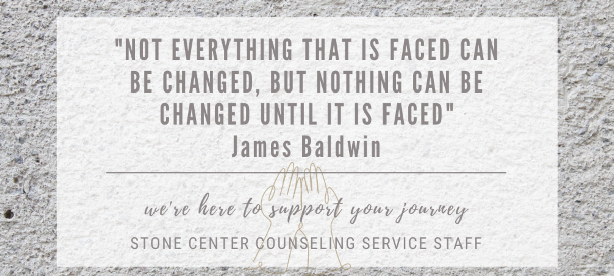 James Baldwin Quote: Not everything that is faced can be changed, but nothing can be changed until it is faced.