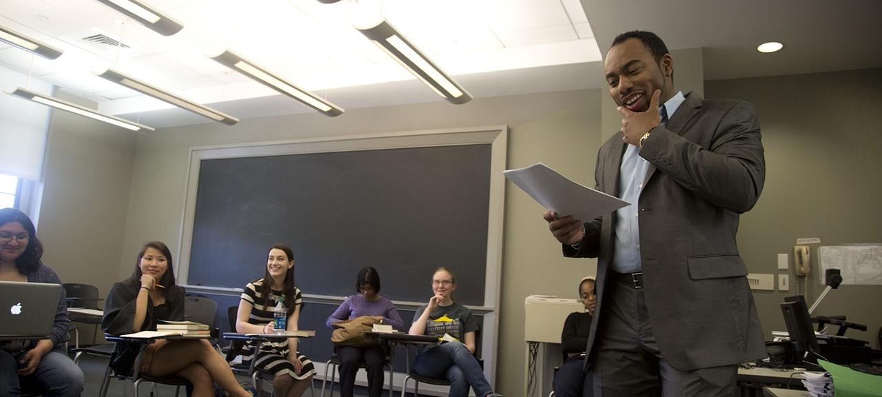 Cord Whitaker teaching a class