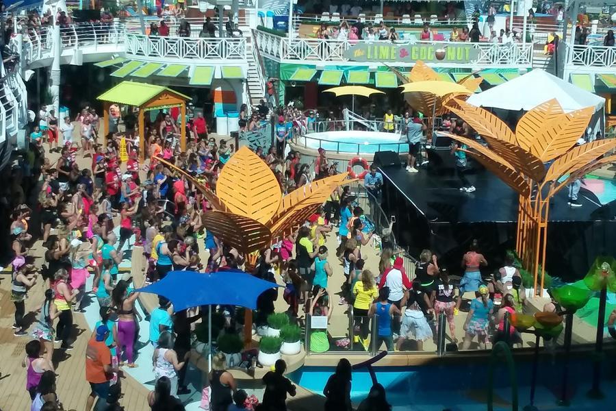 Photo taken from a Zumba cruise