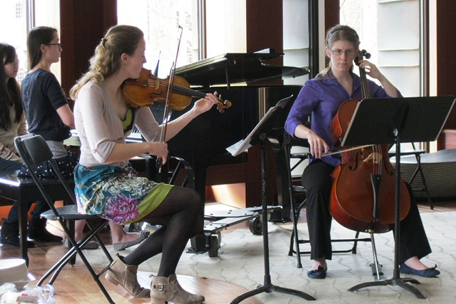 Members of the Chamber Music Society perform in concert