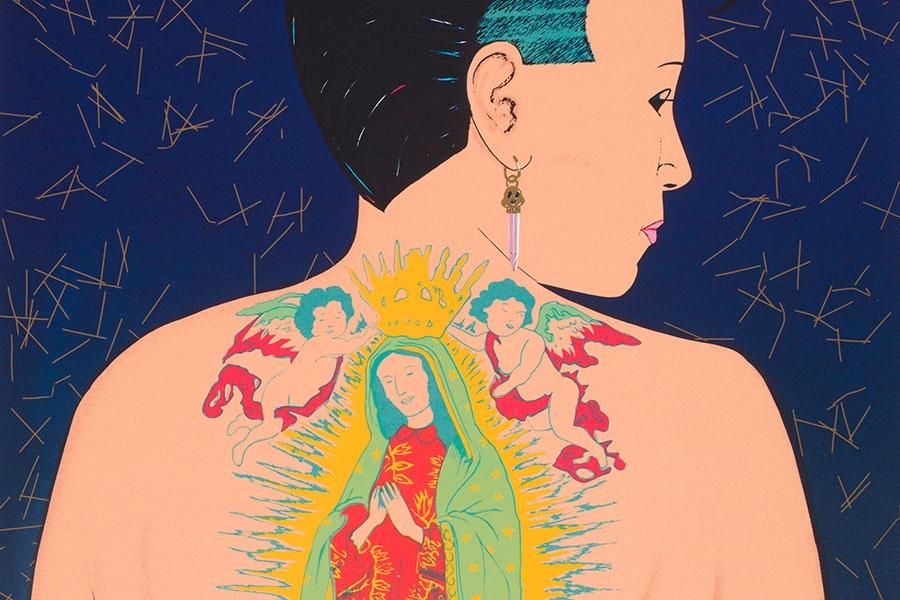 image of Ester Hernández's La Ofrenda (The Offering)