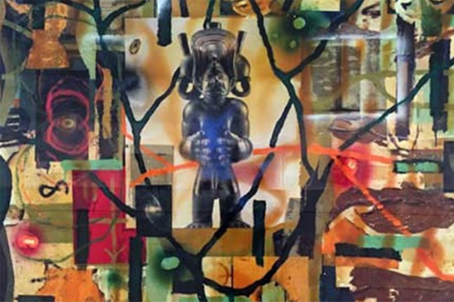 Radcliffe Bailey's painting Divine
