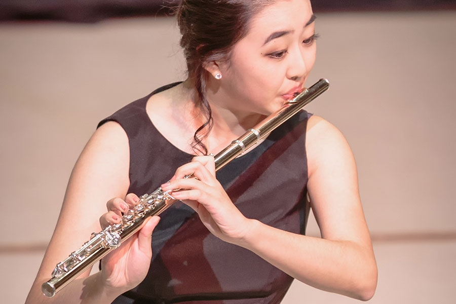 Image of student playing flute