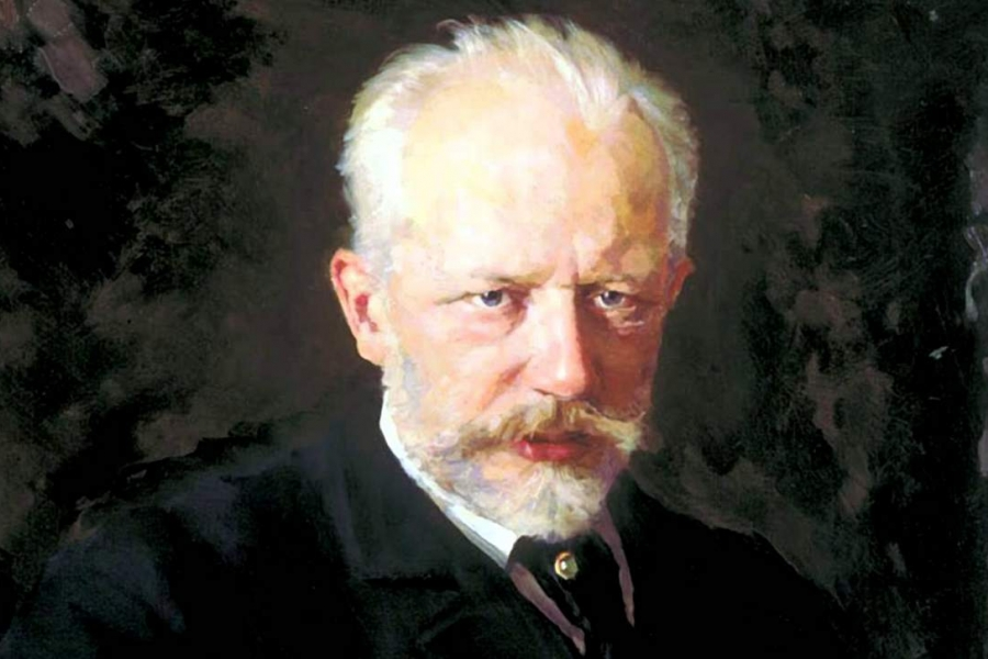 oil painting of Pyotr Ilyich Tchaikovsky