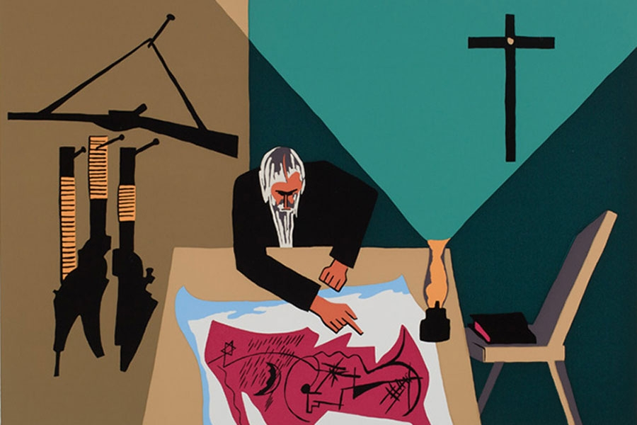 Image of artwork: Jacob Lawrence, The Legend of John Brown: 13