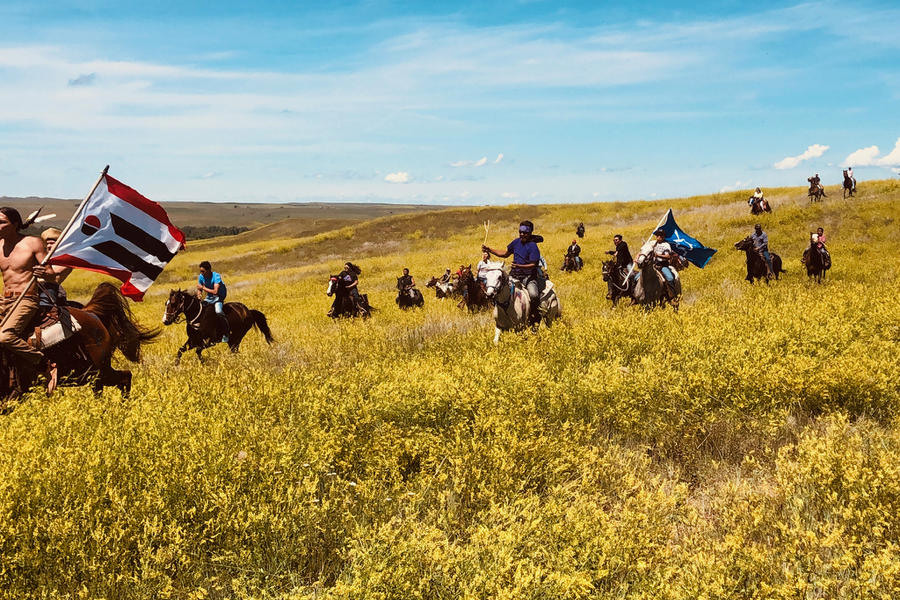 Post charge gallop at Little Bighorn