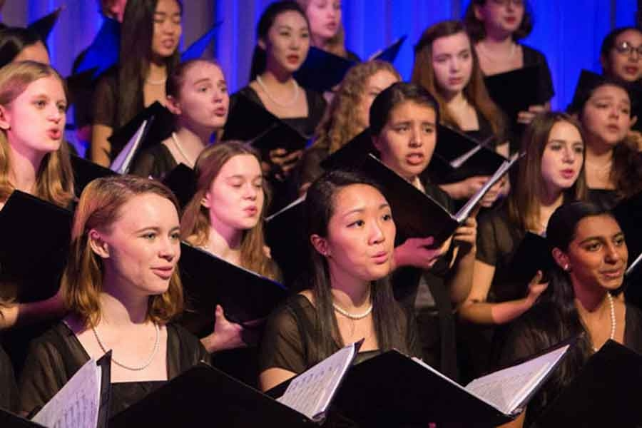 Wellesley College Choral Program singing