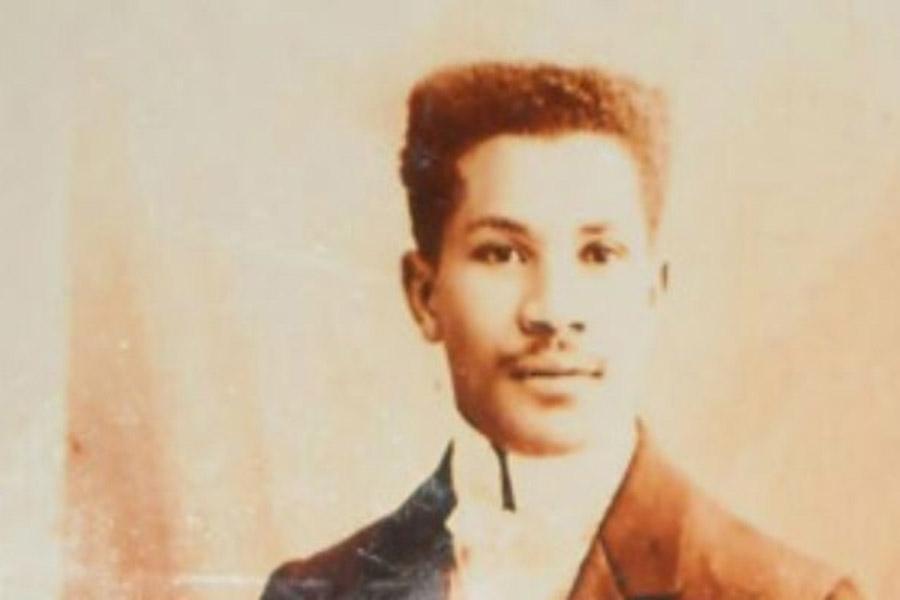 a sepia toned photograph of Joseph Laroche