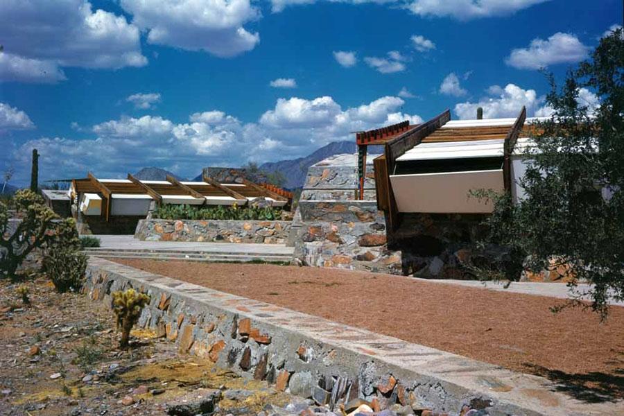 Frank Lloyd Wright's Taliesin West in Maricopa Mesa, Arizona.